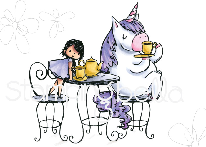 www.stampingbella.com: Rubber stamp : Rosie and Bernie have a TEA PARTY