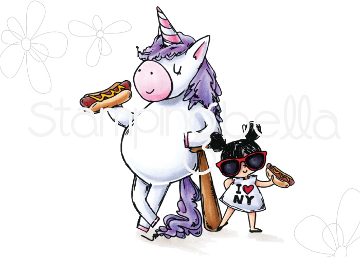 www.stampingbella.com: Rubber stamp : Rosie and Bernie in NEW YORK CITY