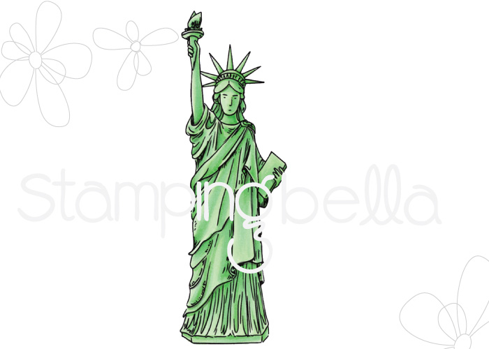 www.stampingbella.com: Rubber stamp : Rosie and Bernie's STATUE of LIBERTY