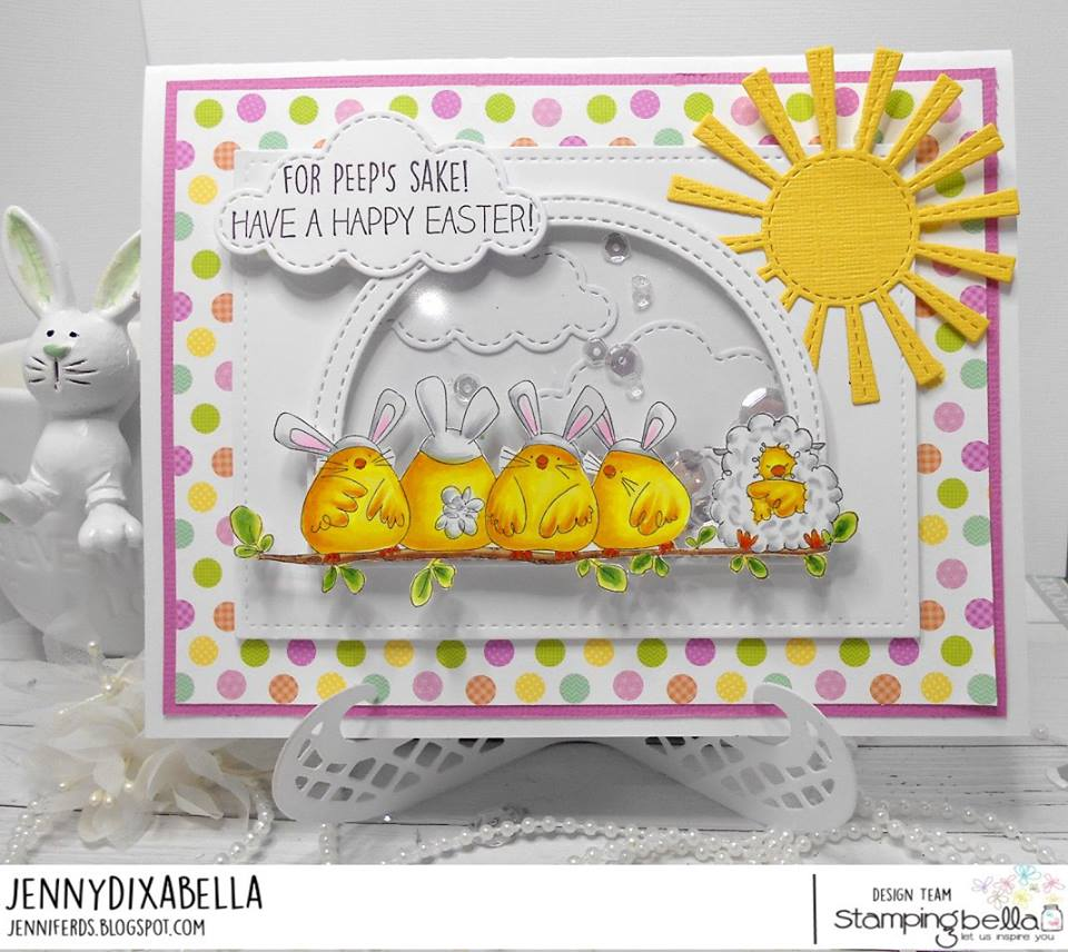 www.stampingbella.com: Rubber stamp used: THE CHICK WHO WAS A LAMB, card by JENNY DIX