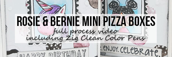 DT Thursday: Rosie & Bernie Mini Pizza Boxes with Video