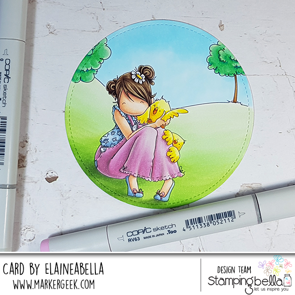 Stamping Bella Marker Geek Monday - Copic Colouring Tiny Townie Heidi needs a Hug (with video)