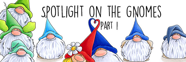 Stamping Bella Spotlight On The Gnomes Part 1 (card samples and videos)