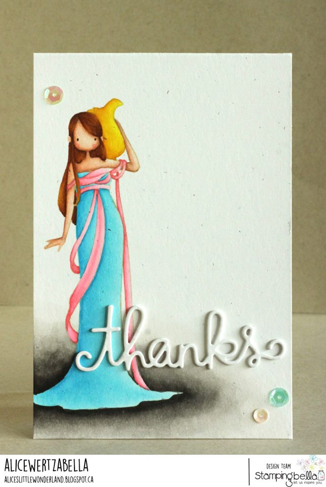 www.stampingbella.com: rubber stamp used: UPTOWN ZODIAC GIRL AQUARIUS card by ALICE WERTZ
