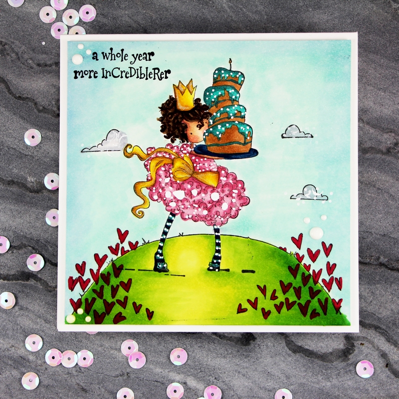 www.stampingbella.com-rubber stamps used:  LOVE BACKDROP, TINY TOWNIE BREE loves BUTTERCREAM card by Stephanie Beauchemin