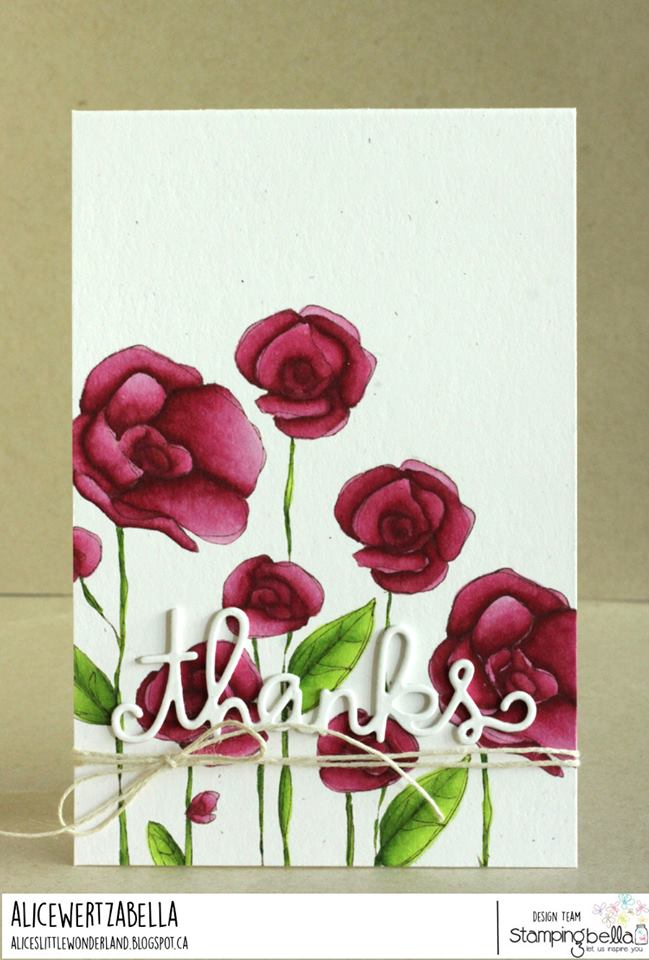 www.stampingbella.com: RUBBER STAMP USED: FLOWER GARDEN card by Alice Wertz