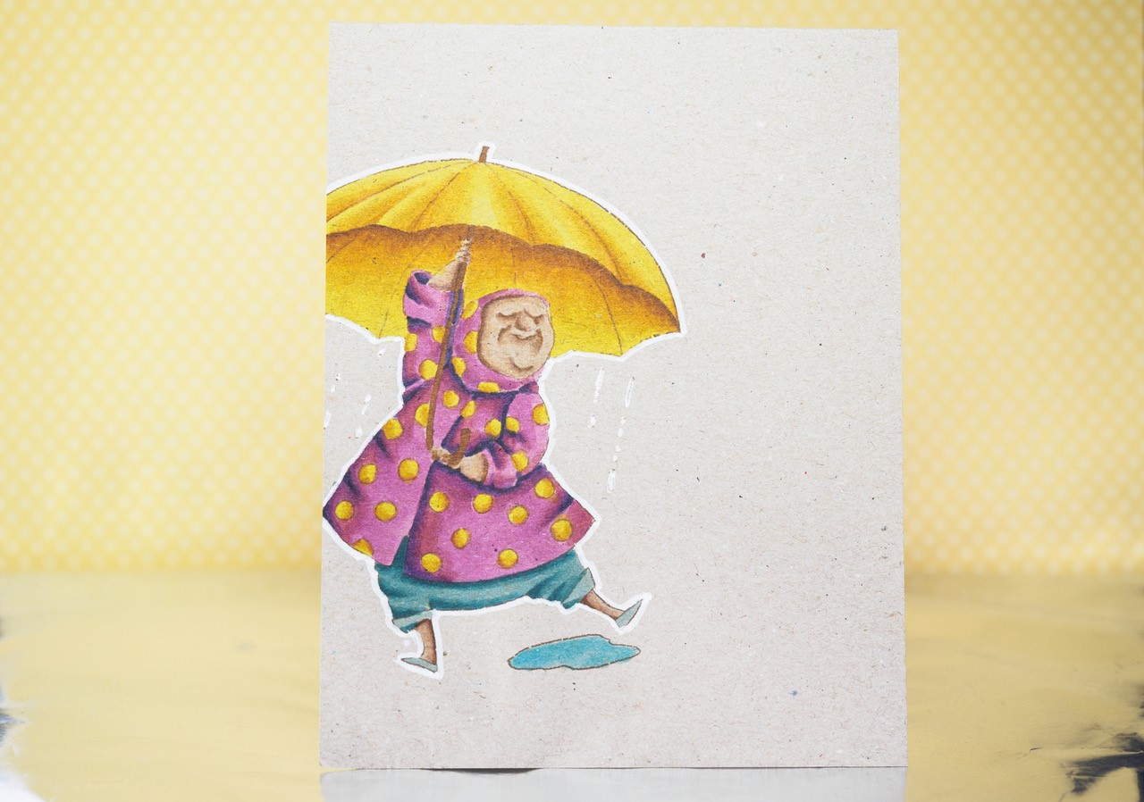 www.stampingbella.com: rubber stamp used: SENIORita Beverly, card by Julia Altermann
