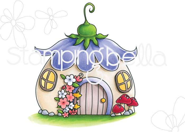 www.stampingbella.com: rubber stamp: THE LITTLES FAIRY HOUSE