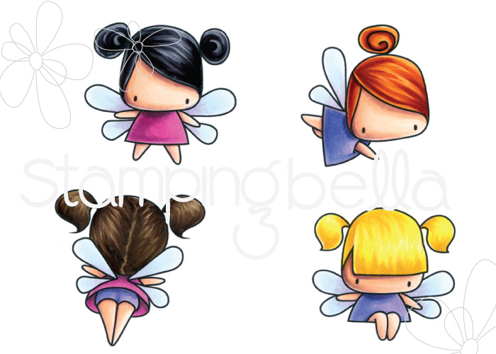 www.stampingbella.com: rubber stamp: LITTLE BITS FAIRY SET