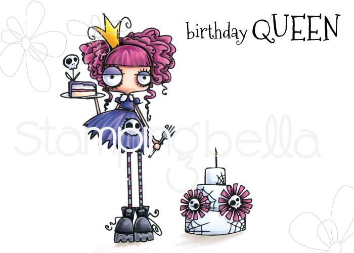 www.stampingbella.com: Rubber stamp: ODDBALL Birthday Queen