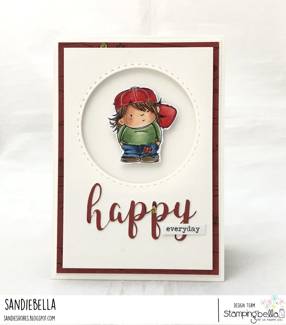 """www.stampingbella.com: rubber stamp: SQUIDGY PALS, HAPPY """"CUT IT OUT"""" DIE. CARD BY SANDIE DUNNE"""