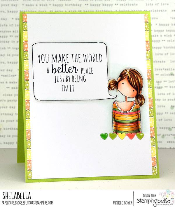 www.stampingbella.com: rubber stamp used: TINY TOWNIE ANABELLE needs your ADDRESS.  Card by Michele Boyer