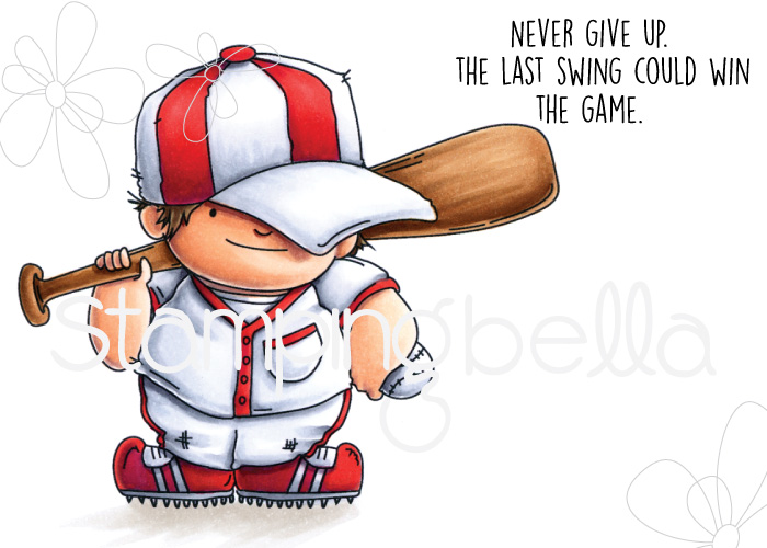 www.stampingbella.com: rubber stamp: BASEBALL SQUIDGY