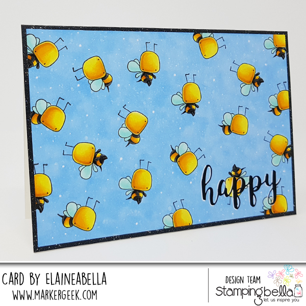 "www.stampingbella.com: rubber stamp: LITTLE BITS LITTLE CRITTERS SET, HAPPY ""CUT IT OUT"" DIE card by ELAINE HUGHES"