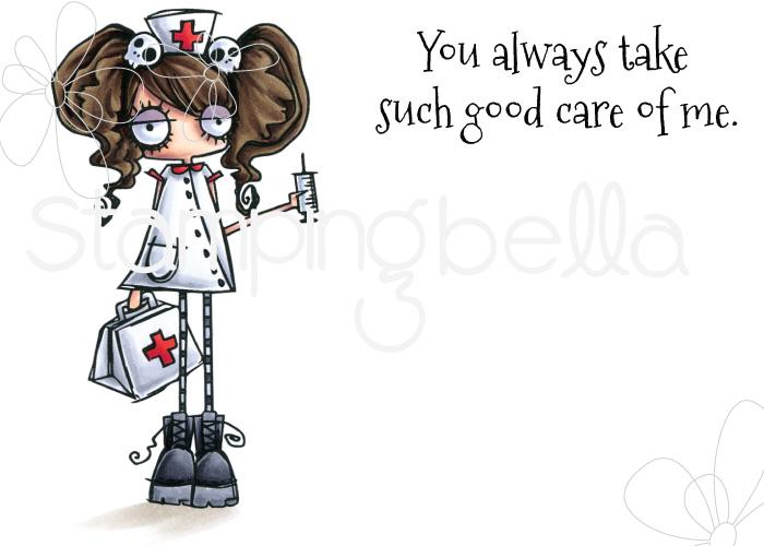 www.stampingbella.com: Rubber stamp: ODDBALL Nurse