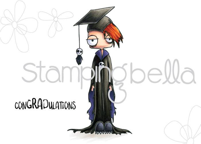 www.stampingbella.com: rubber stamp used ODDBALL BOY GRADUATE