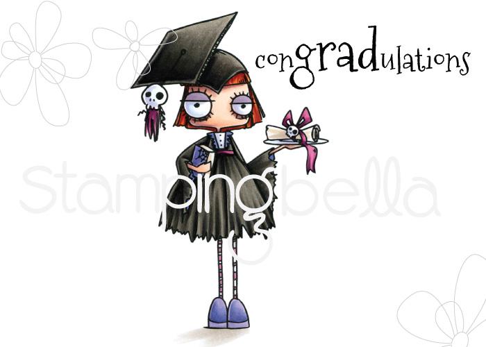 www.stampingbella.com: Rubber stamp: ODDBALL GIRL GRADUATE