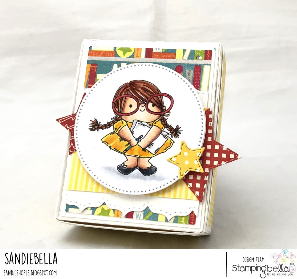 www.stampingbella.com: rubber stamp: SQUIDGY PALS, card by Sandie Dunne