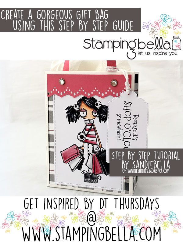 Stamping Bella DT Thursday: Create an Oddball Shopper Gift Bag with Sandiebella!