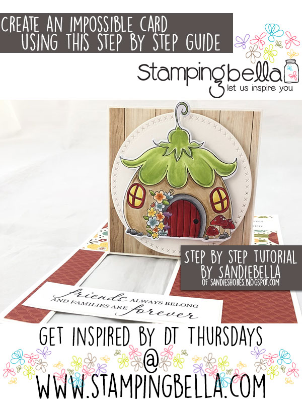 Stamping Bella DT Thursday Create an Impossible card with Sandiebella
