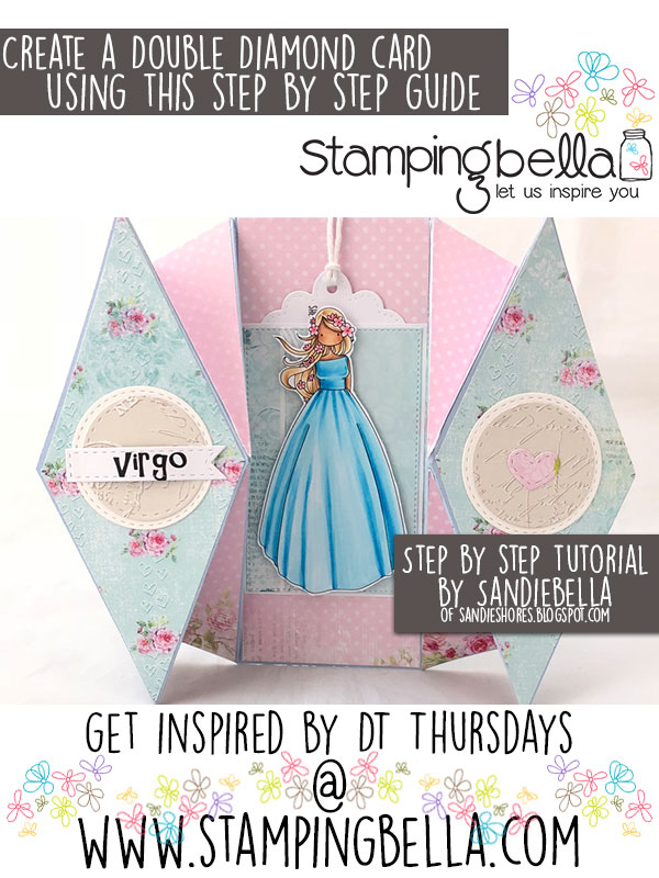 Stamping Bella DT Thursday: Create a Double Diamond Card with Sandiebella!
