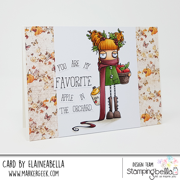 www.stampingbella.com: RUBBER STAMP: APPLE CIDER ODDBALL. CARD BY Elaine Hughes