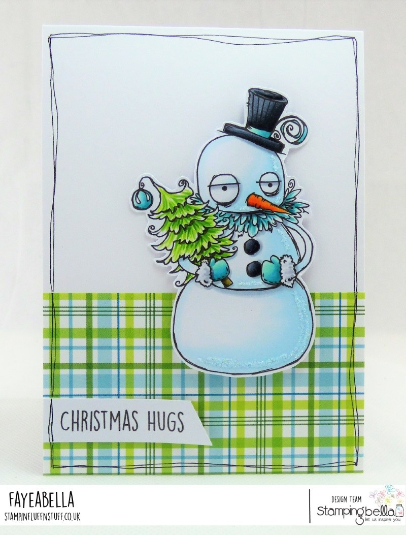 www.stampingbella.com: RUBBER STAMP USED: ODDBALL SNOWMAN card by FAYE WYNN JONES
