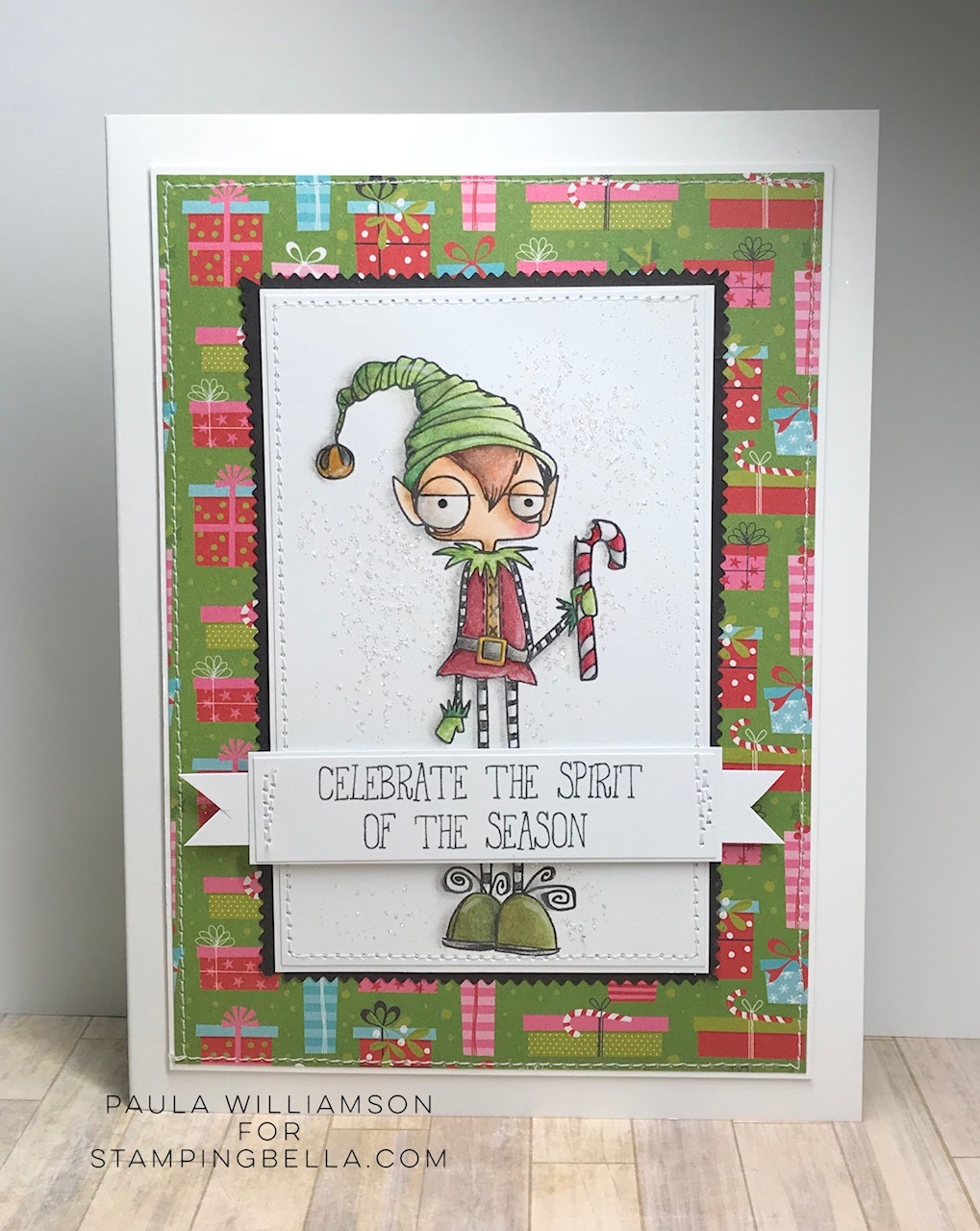 www.stampingbella.com: RUBBER STAMP USED: ODDBALL BOY ELF card by Paula Williamson