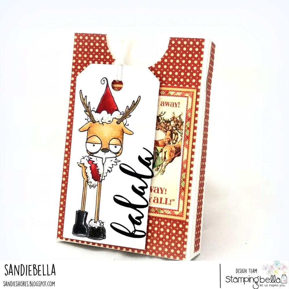 www.stampingbella.com: RUBBER STAMP USED: ODDBALL REINDEER SET card by SANDIE DUNNE