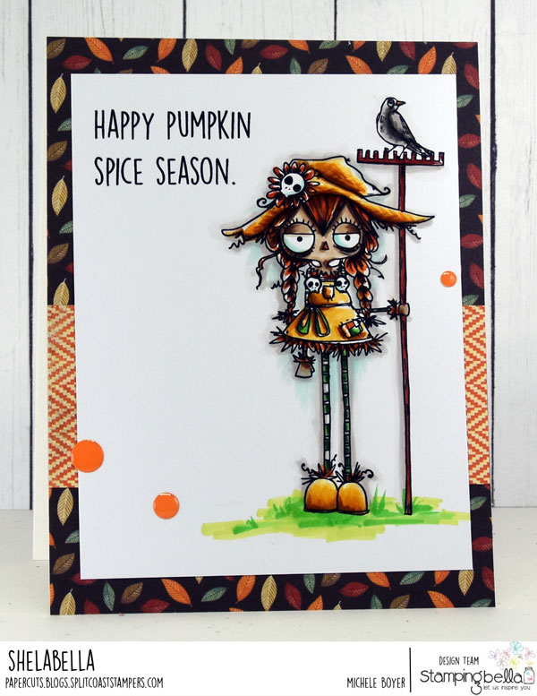 www.stampingbella.com: RUBBER STAMP: ODDBALL SCARECROW CARD BY MICHELE BOYER