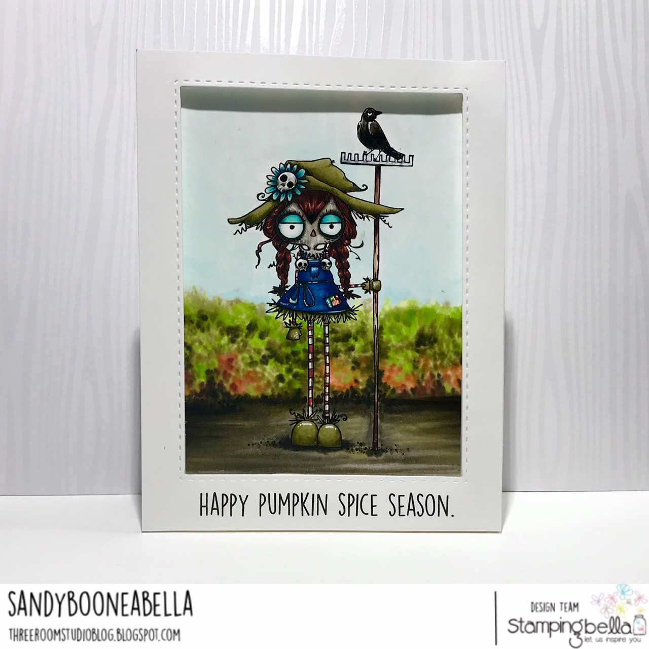 www.stampingbella.com: RUBBER STAMP: ODDBALL SCARECROW CARD BY Sandy Boone