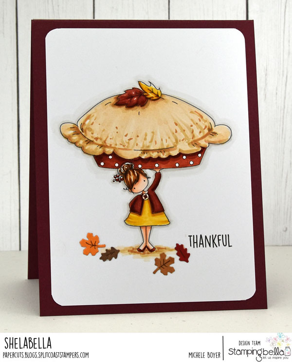www.stampingbella.com: RUBBER STAMP USED: TEENY TINY TOWNIE with a PUMPKIN PIE, CARD BY MICHELE BOYER