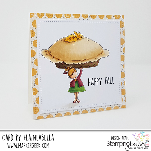 www.stampingbella.com: RUBBER STAMP USED: TEENY TINY TOWNIE with a PUMPKIN PIE, CARD BY Elaine Hughes