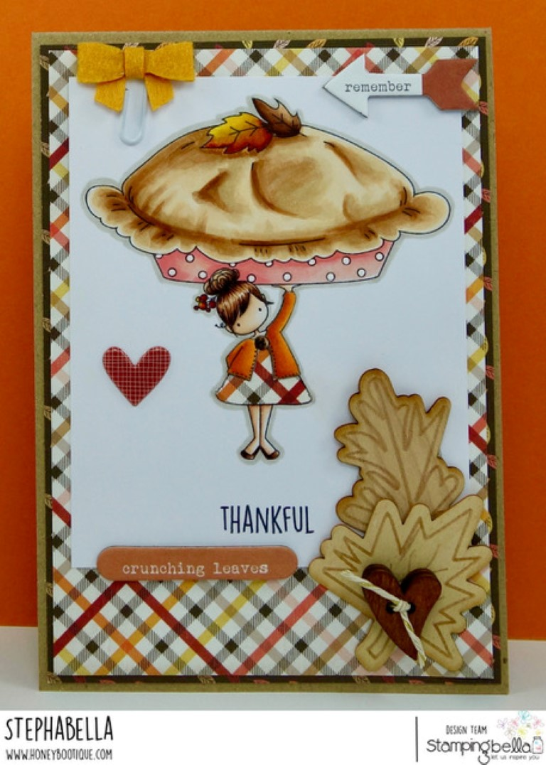 www.stampingbella.com: RUBBER STAMP USED: TEENY TINY TOWNIE with a PUMPKIN PIE, CARD BY Stephanie Hill