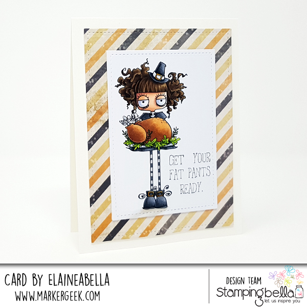 www.stampingbella.com: RUBBER STAMP: THANKSGIVING ODDBALL. CARD BY Elaine Hughes