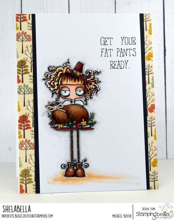 www.stampingbella.com: RUBBER STAMP: THANKSGIVING ODDBALL. CARD BY MICHELE BOYER