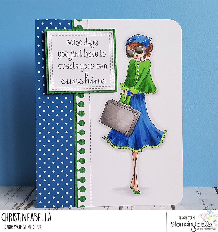www.stampingbella.com: rubber stamp used: TINY TOWNIE SUNNY is STYLISH.  Card by CHRISTINE LEVISON
