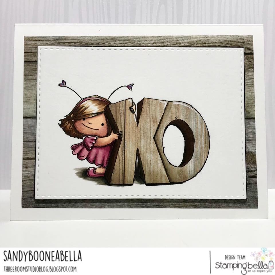 www.stampingbella.com: rubber stamp used: XO SQUIDGY.  Card by Sandy Boone