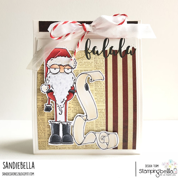 Stamping Bella DT Thursday - Make a Santa Gift Bag with Sandiebella