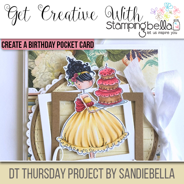 Stamping Bella DT Thursday: Create a Happy Birthday Pocket Card with Sandiebella!