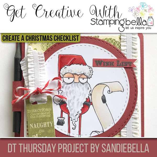 Stamping Bella DT Thursday: Create a Christmas Checklist with Sandiebella!