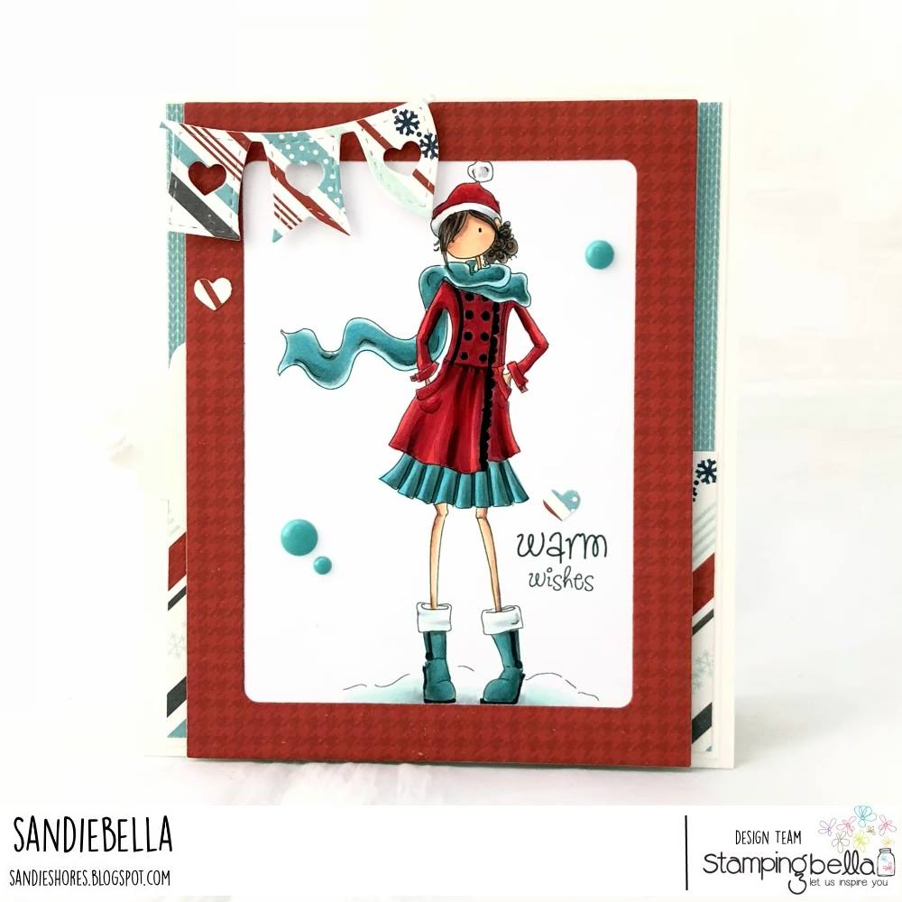 www.stampingbella.com:  Rubber stamp used:  UPTOWN GIRL QUINN.  card by Sandie Dunne