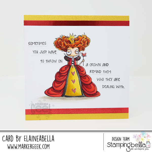 Stamping Bella Wonderful Wednesday: Oddball Queen of Hearts Card & Copic Colouring Video
