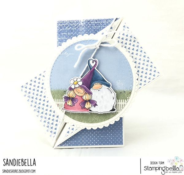 Stamping Bella DT Thursday: Create a Diagonal Gatefold Card with Sandiebella!