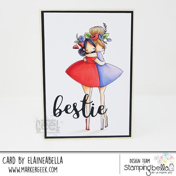 Stamping Bella Curvy Girl Besties Card & Copic Colouring Video