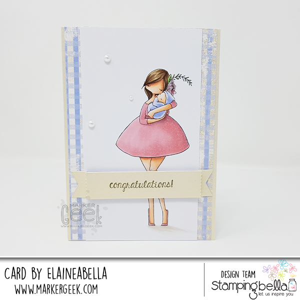 Wonderful Wednesday: Curvy Girl with a Newborn Card & Colouring Video