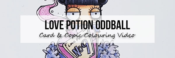 Stamping Bella Love Potion Oddball Card & Copic Colouring Video