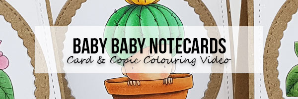 Stamping Bella Baby Baby Notecards & Copic Colouring Videos