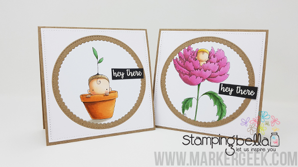 Stamping Bella Hey There Baby Notecards & Copic Colouring Videos