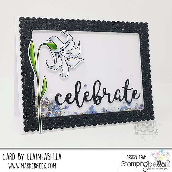 Stamping Bella Wonderful Wednesday: Floral Shaker Cards & Colouring Videos